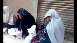 poor people taking brotherhood food to vote in the elections