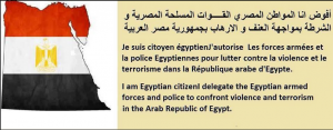 Egyptians authorize egyptian military and police forces to fight MB terrorists