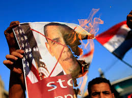 Egypians burn obama image