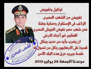 يوم الجمعة 26 يولية 2013 ثورة مصر ضد الارهاب