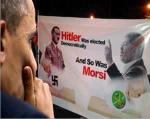 Hitler and Mohammed Morsi