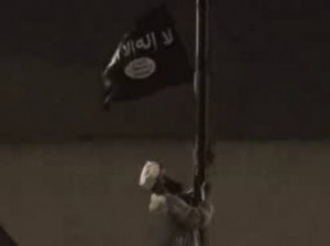 muslim brotherhood raising Al-Qaeda Flag