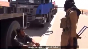 Al-Qaeda in Iraq stopping trucks killed Syrians drivers because of wrong answers on the nos of kneels in Muslim prayers