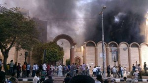 Brotherhood burn churches in Egypt