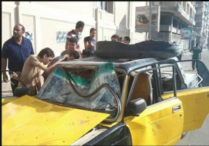 Brotherhood killed a coptic taxi driver and smashed his car in alexandria