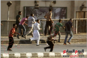 Brotherhood militias carrying guns in Cairo Down Town terrorizing civilians 16 august 2013