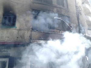 Brotherhood set a fire in one of the Building in Sohag City, Egypt - just because there are Christians living there