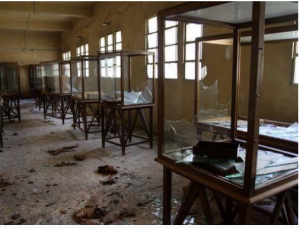 Brotherhood supporters looted all the contents of Malawy museum ,Menia City,Upper Egypt