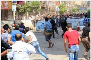 Damanhour City 30 August 2013 Brotherhood supporters attacking civilians in the streets
