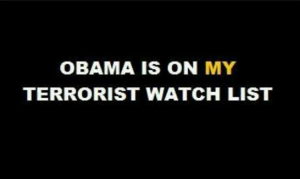 Obama is on Egypt's Terrorists List - Wanted for supporting and Finacing terrorism in Egypt and in the Middle East