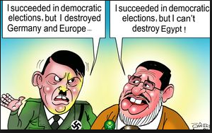 The difference between Mohammed Morsi and Hitler