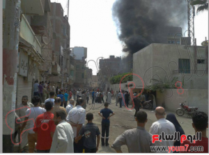 brotherhood burned egyptian civilians homes in egypt 16 august 2013