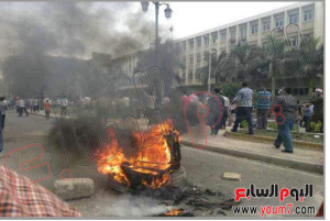brotherhood burned vital buidling and private cars in egypt