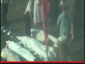 mass grave in rabaa tortured and killed by Muslim brotherhood