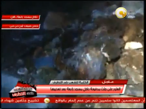 muslim brotherhood burned the rabaa mosque to cover the mass grave