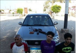 19 August 2013 Military arrested 3 terrorists in Al-Arish Sinai who were participating in terrorizing civilians and killing Military individuals
