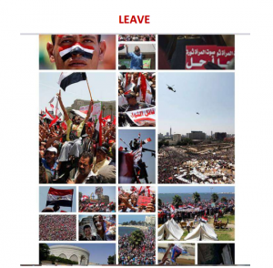 30 June 2013 asking Morsi to leave