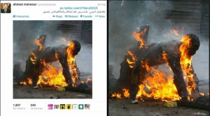 Aljazeera Channel forge news and images about what is going on in Egypt