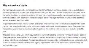 Amnesty report on Qatar Migrant domestic workers women are exposed to exploitation and sexual abuse