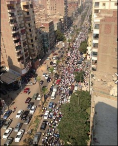 Brotherhood demonstration in Faisal Pyramids Area 6 september 2013 that's the biggest one for 6sept2013