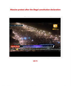 Massive protest in Egypt after the illegal constitution declaration