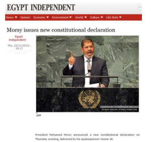Morsi issued new constitutional declaration