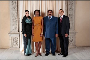 Obama support the dictator hamad bin Khalifa ex prince of Qatar