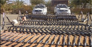 On 27 July 2013 Military succeeded in arresting terrorists and smugglers of different kinds of weapons and snipers rifles and ammunitions and two Pick quarter of four-wheel drive transfer
