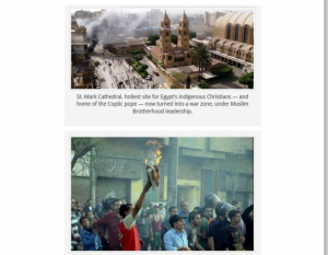 Saint Mark Cathedral attacked and burned by brotherhood supporters and burned the bible
