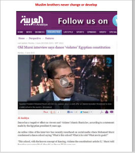 The Ex President of Egypt Mohamed Morsi said that dancing violates the Egyptian Constitution