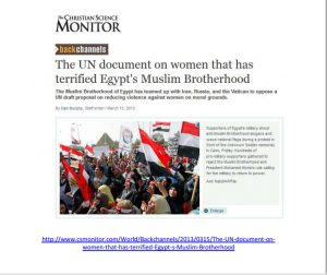 The UN document of women that has terrified Muslim Brotherhood regime in Egypt