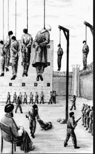 Year 1988, Islamist Iranian revolution and Khomeini ordered the execution of 30 thousand political prisoners in Iran in genocide