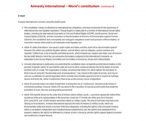 part 3 morsi and brotherhood constitution as reported by amnesty international