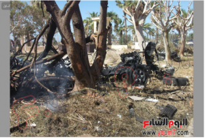 7 october 2013 South Sinai a bombed car exploded inside the security yard directory in Altor City resulted the death of 2 Police individuals and the injury of 48 officers and soldiers