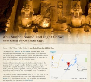 Abu Simbel Sound and Light Show When Ramses the Great Ruled Egypt