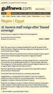 Aljazeera fake news