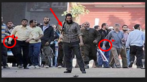 Brotherhood supporters terrorizing Egyptians in the streets during violence demonstrations