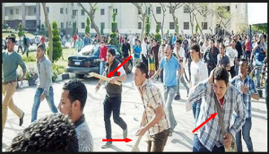 Brotherhood supporters violence in the universities of Egypt