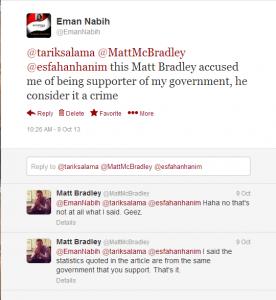 Correspondent of International news medias offends on social medias