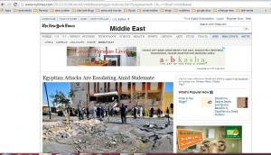 DAVID D. KIRKPATRICK correspondent of New York Times is Faking News about Egypt