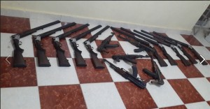 Egyptian Military adjust weapons smugglers and terrorist elements in Saloum