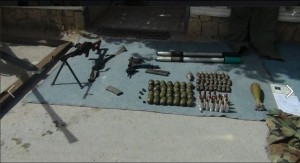 Egyptian Military fighting against terrorist elements in North Sinai