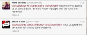 Matt MC Bradley Correspondent twitter account