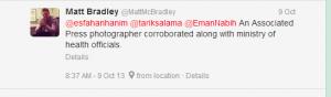 Matt MC Bradley Middle East Correspondent The Wall Street Journal in Egypt