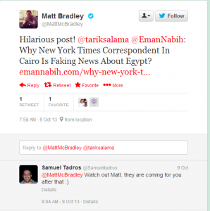 Matt MC Bradley Middle East Correspondent for The Wall Street Journal in Egypt and Iraq