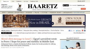 Mohamed Morsi's letters to his friends in Israel