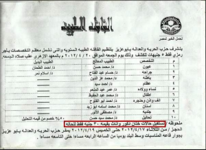 Muslim Brotherhood Political Party Freedom and Justice Party's Campaign for Female genital mutilation in Egyptian Cities