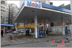 brotherhood damaged a gaz station in ramsis square