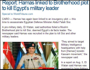 muslim brotherhood plans to assassinate the egyptian minister of defense abd elfattah el sisi