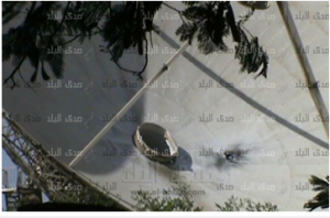 satellite attacked by rbj in maadi Egypt